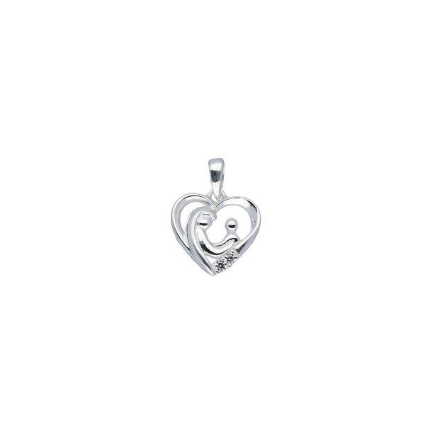 Zilveren hanger - familiehanger - hart