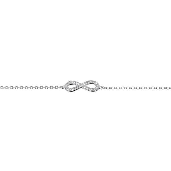 Zilveren symboolarmband - anker - infinity