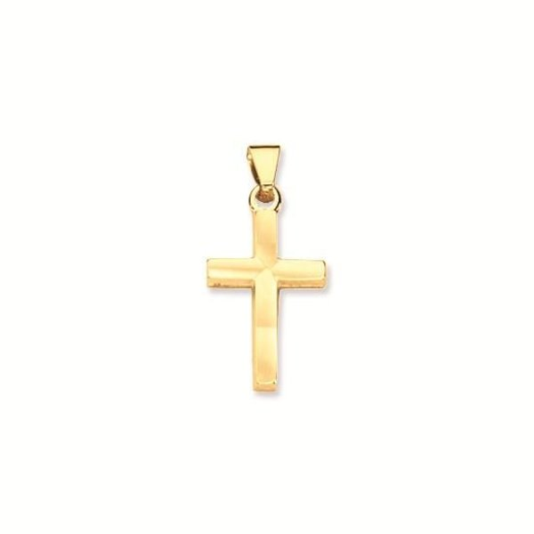 Gouden kruisje - 22 x 10 mm - glad