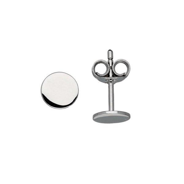 Zilveren oorknoppen - rond - glad