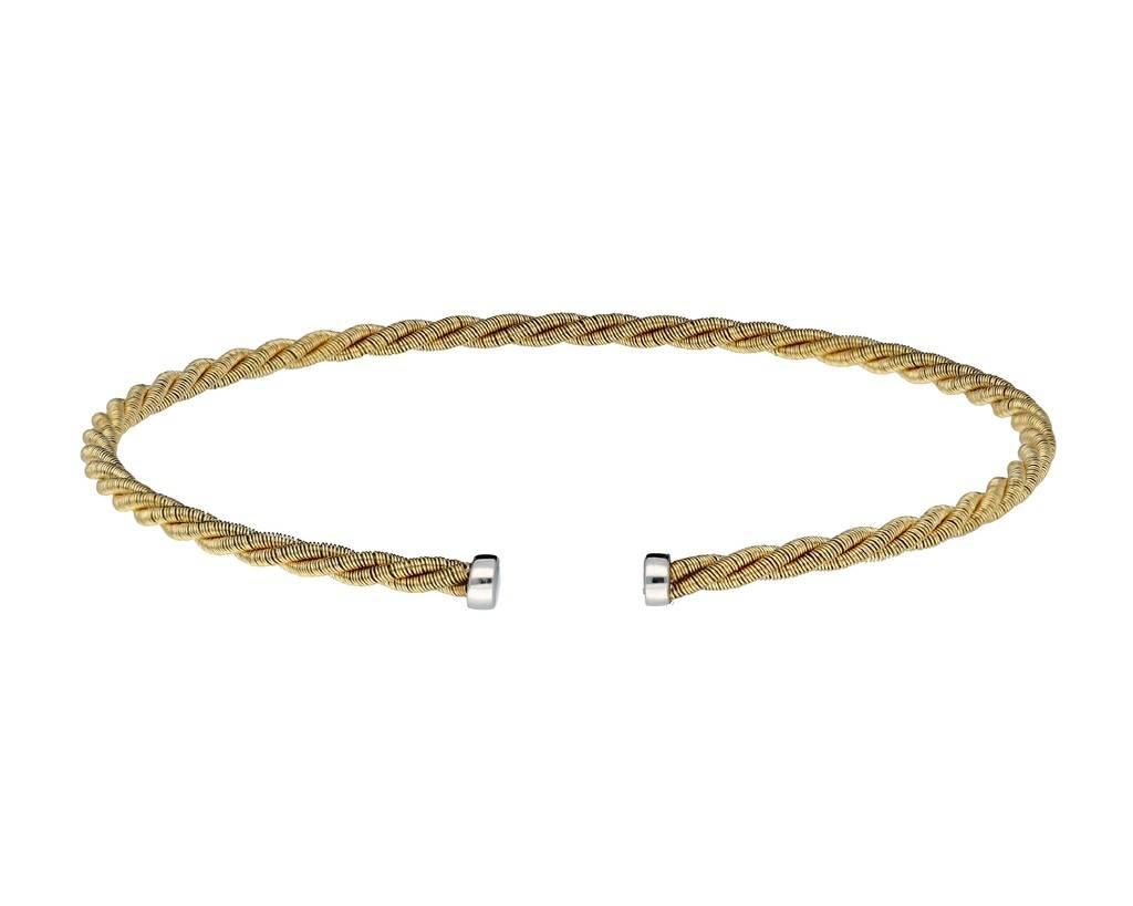 Elegance Zilveren gold-plated klemarmband - 2.5 mm - 62 mm -