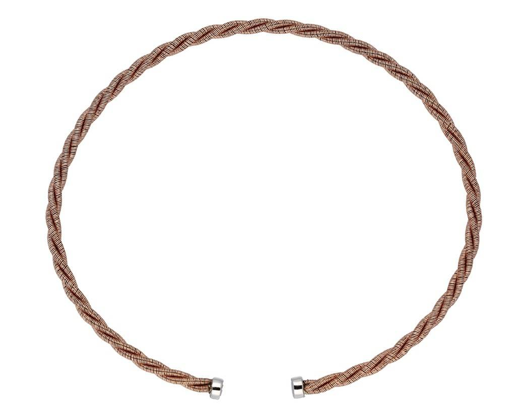 Elegance Zilveren rosé-plated klemarmband - 2.5 mm - 62 mm -