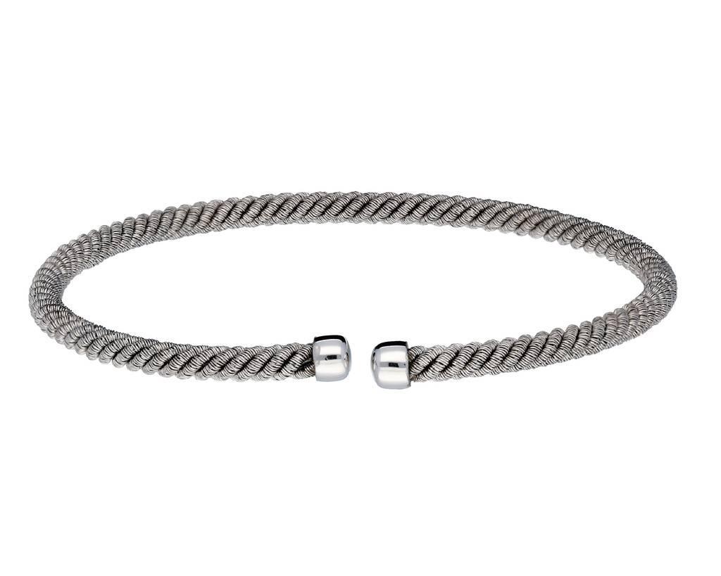 Elegance Zilveren klemarmband - 3.5mm breed - 61mm - Gerodineerd