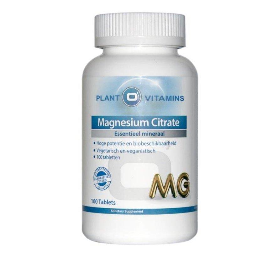 Magnesium Citraat 100 tabletten Plantovitamins