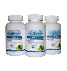Plant O'Vitamins 3 stuks VITAMINE C-1000 MG Plantovitamins