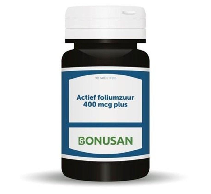 Bonusan Actief foliumzuur 400 mcg plus 90 tabletten