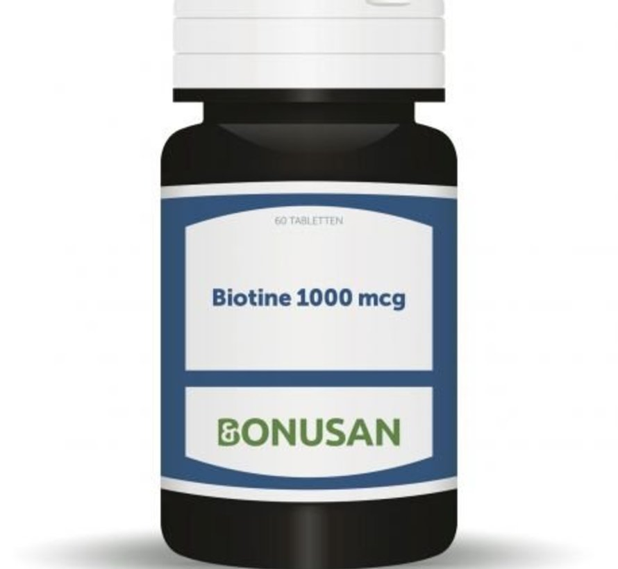 BONUSAN BIOTINE 1000 MCG 60 TABLETTEN