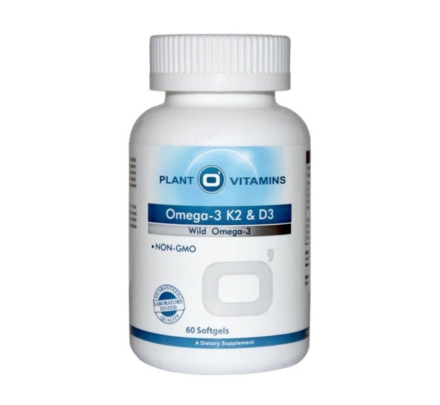 Omega-3 K2 & D3 60 softgels Plantovitamins