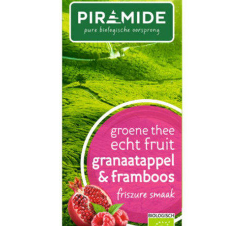 Piramide Piramide groene thee granaatappel & framboos
