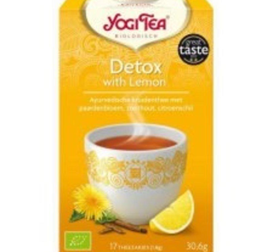 Yogi Tea Detox with lemon