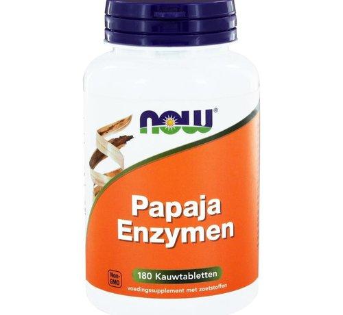 NOW Now Papaja enzymen 120 kauwtabletten