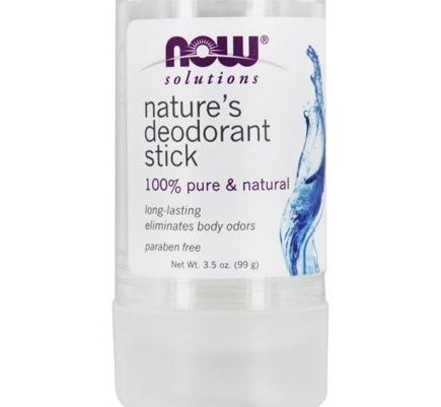Now Nature's Deodorant stick