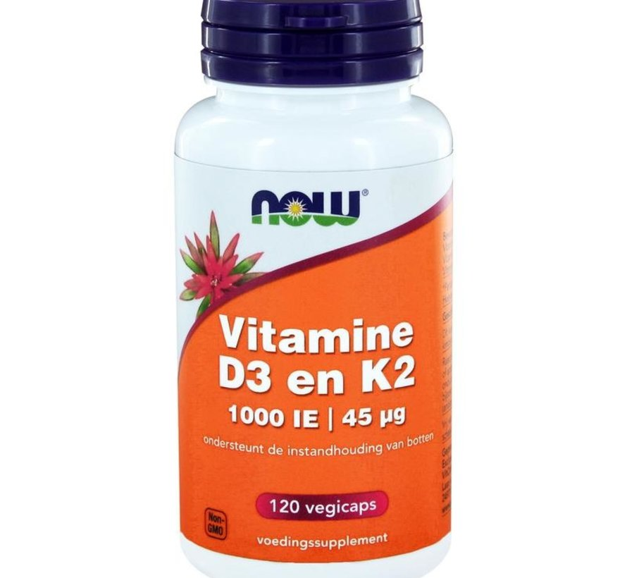 Now Vitamine D3 en K2 120 vcaps