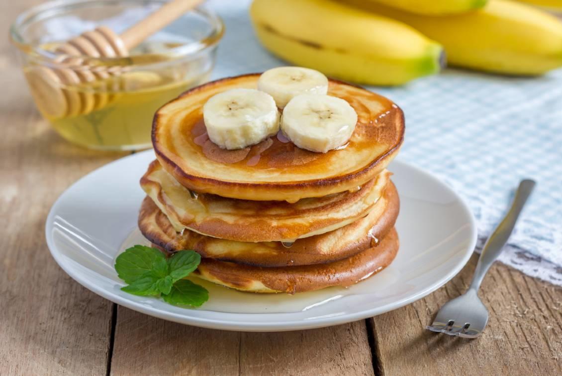 Spelt-banaan pannenkoekjes