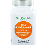VitOrtho VITHORTHO B12 ACTIEF FORMULE 1000 µg ZUIGTABLETTEN