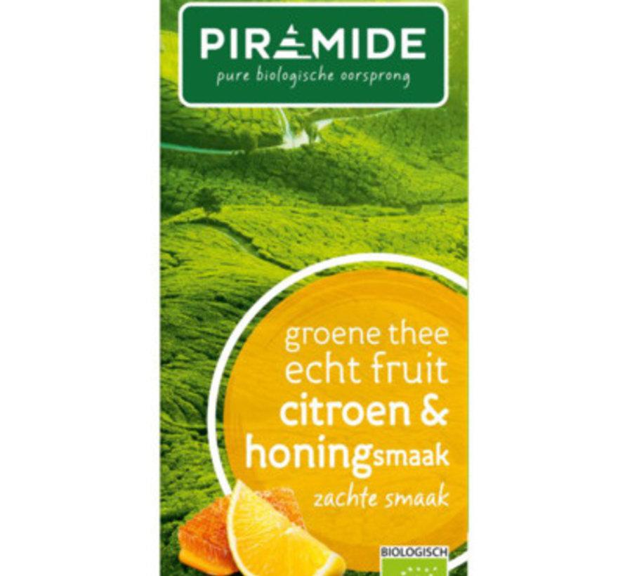 Piramide groene thee citroen en honing