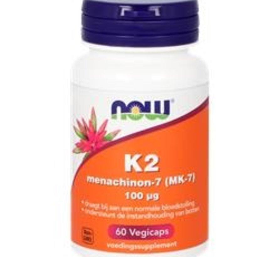 K2 MENACHINON-7  100 µg NOW