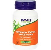 NOW Now Silymarine extract en curcuma 60 vegicaps
