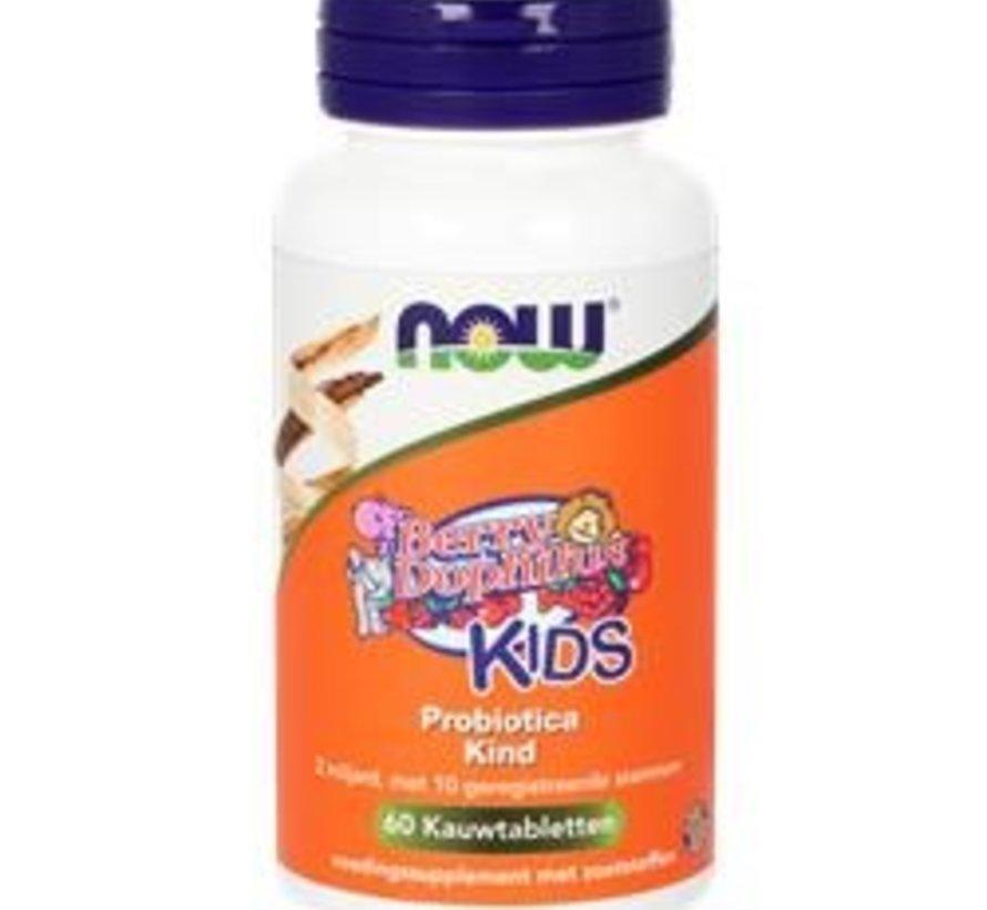Now Berry Dophilus Kids 60 kauwtabletten