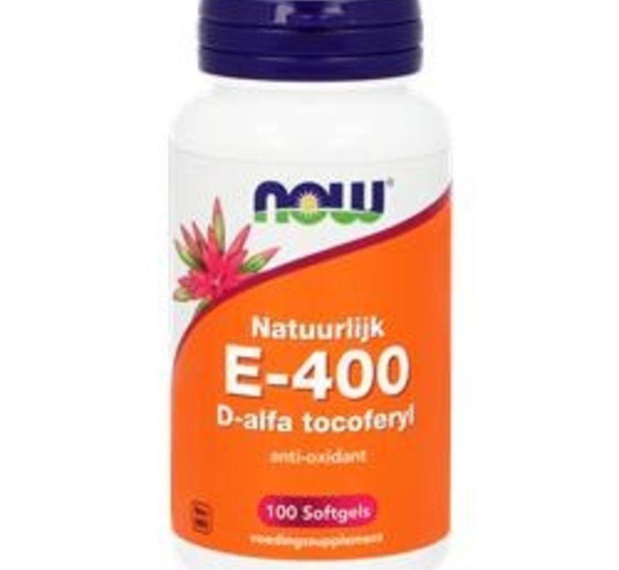Now E-400 D-Alfa Tocoferyl 100 softgels