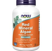 NOW Now Red Mineral Algae 180 Veg Capsules