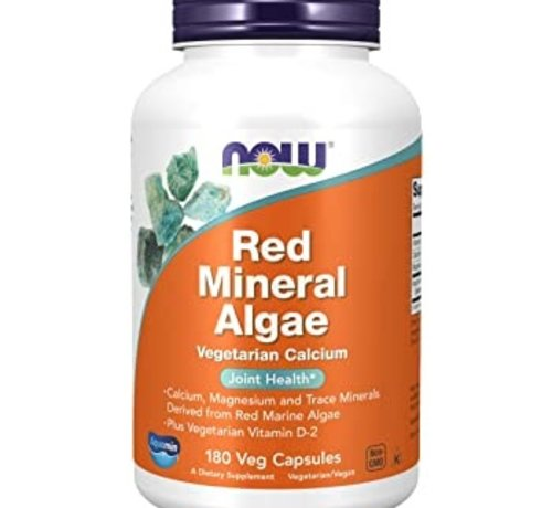 NOW Now Red Mineral Algae 180 Veg Capsules