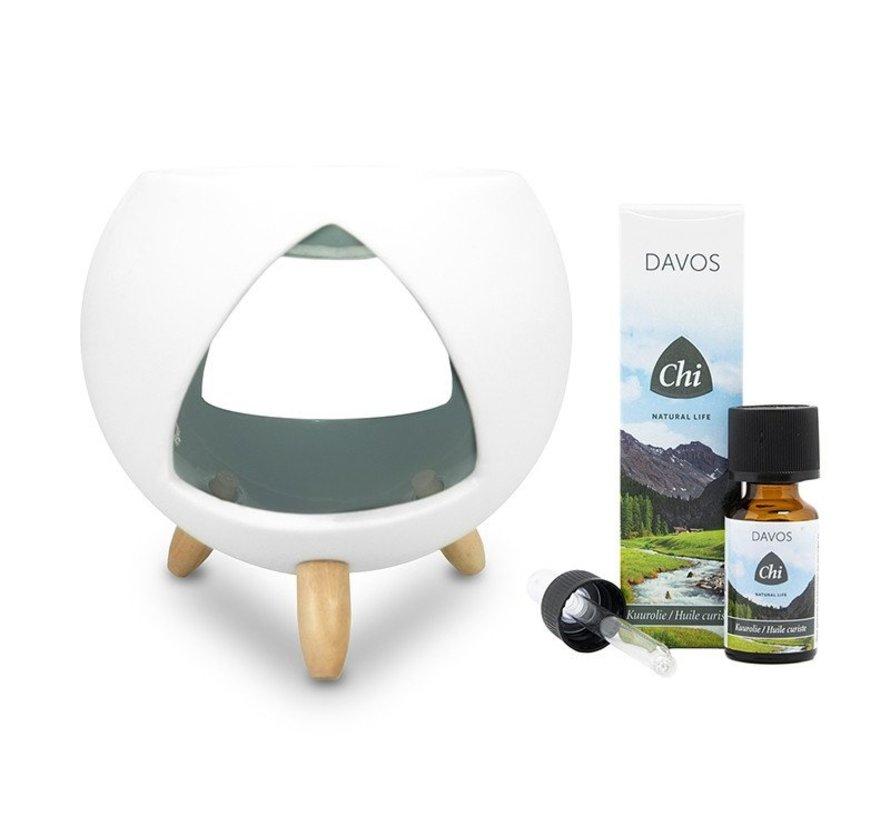 Chi Cozy Aroma Burner + gratis Davos kuurolie