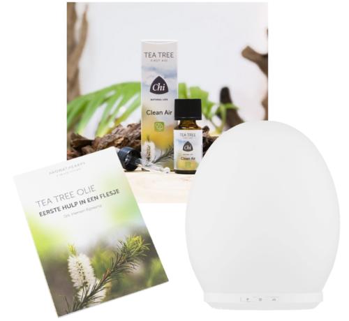 Chi Chi Tea Tree Clean Air Oil & Diffuser pakket