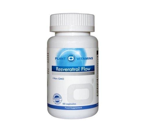 Plant O'Vitamins Resveratrol Flow 60 Vcaps Plantovitamins (Vernieuwd)