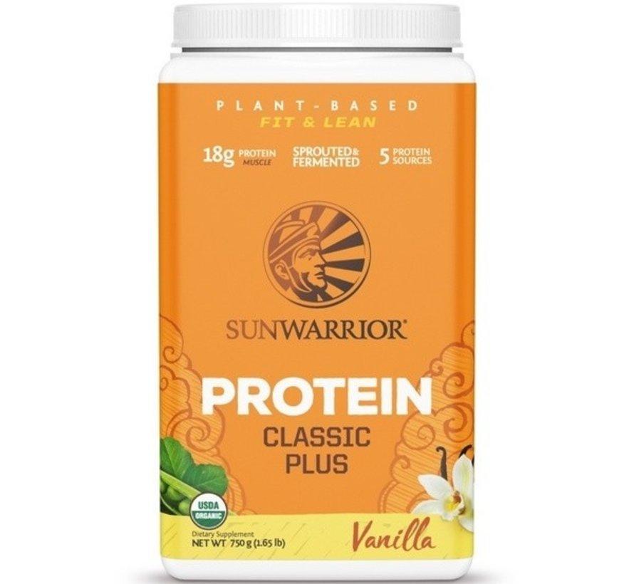 Sunwarrior Classic Plus Biologische Proteïne Vanille 375 / 750 Gram
