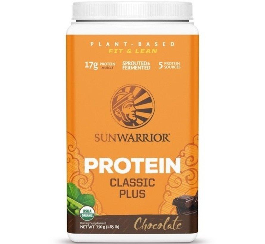 Sunwarrior Classic Plus Biologische Proteïne Chocolade 375 / 750 Gram