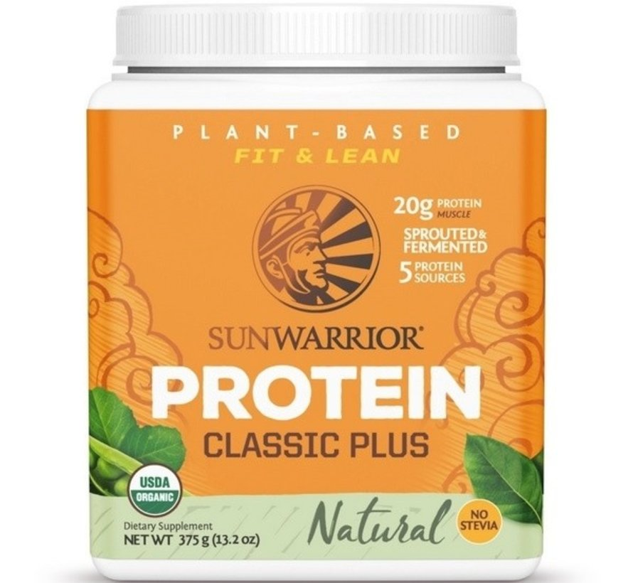 Sunwarrior Classic Plus Biologische Proteïne Natural 375 / 750 Gram