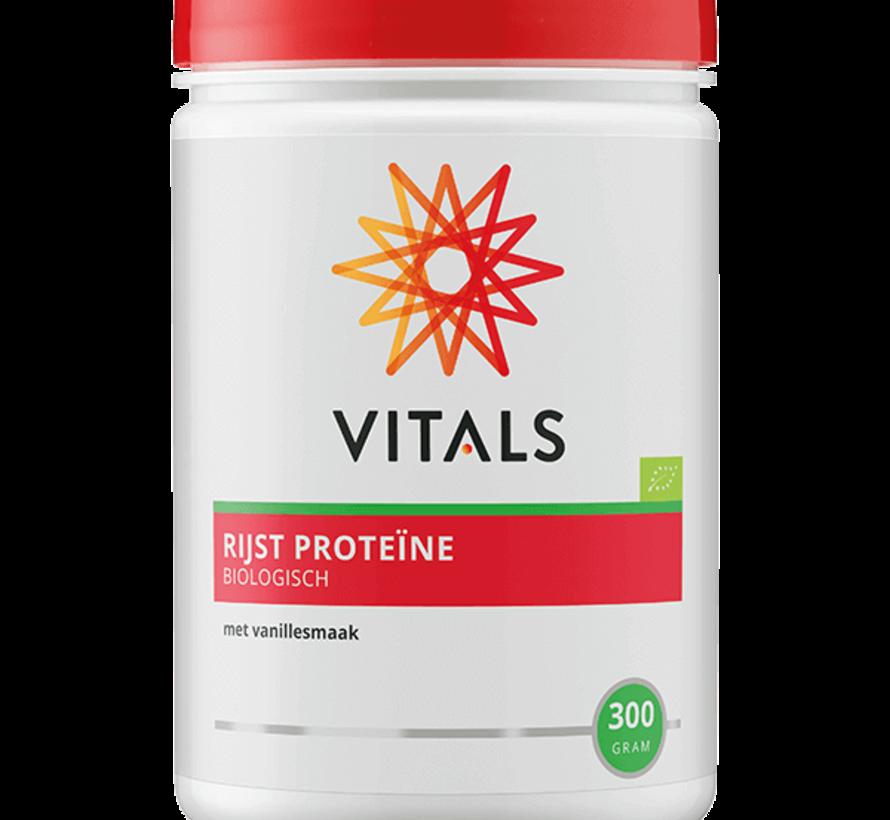 Vitals Rijst Proteïne Biologisch met vanillesmaak 300 gram