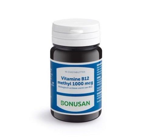 Bonusan Bonusan Vitamine B12 methyl 1000 mcg 90 zuigtabletten