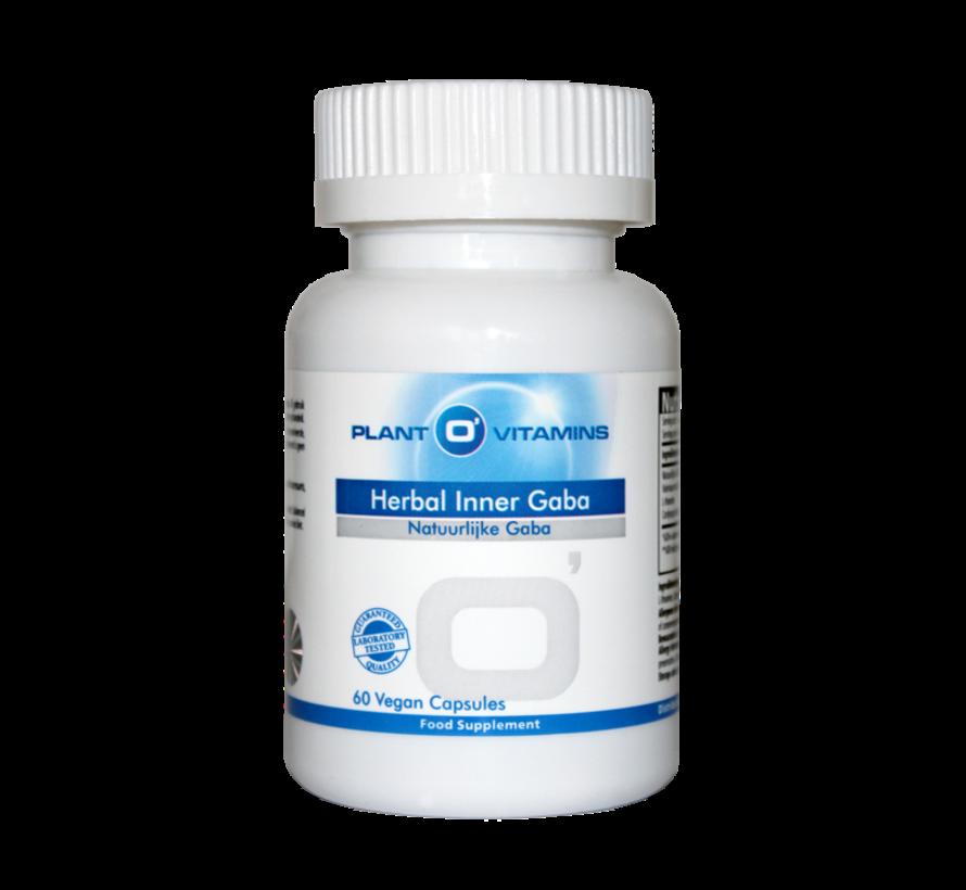 Herbal Inner Gaba Plantovitamins GABA (100% natuurlijk) 60 capsules