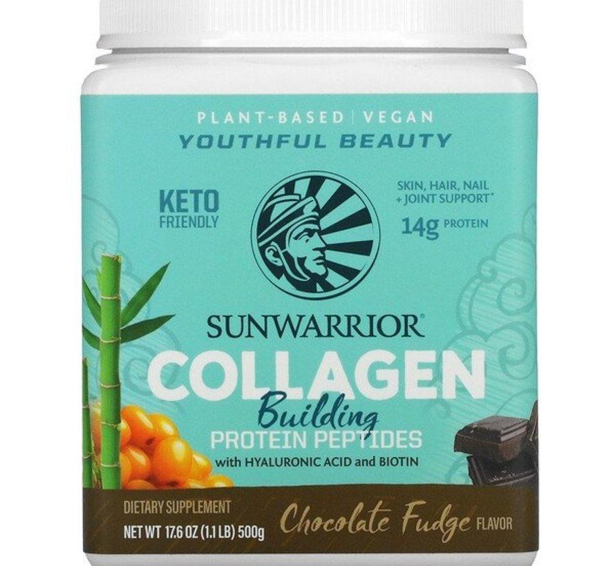 Sunwarrior Collagen Building Protein Peptides, Chocolate Fudge 500 gram