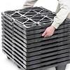 Zware kunststof display pallet 800x600x130mm - nestbaar