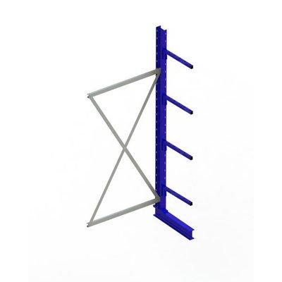 Aanbouwstelling 1000x500x2500mm incl. 4 draagarmen - gelakt RAL 5010