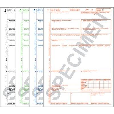 CMR Vrachtbrieven Laser 1234 ongenummerd