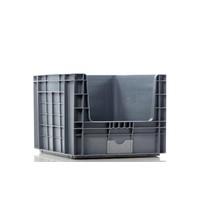Kunststof stapelbak met grijpopening  - 605x497x401mm