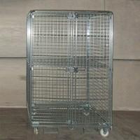 Gebruikte anti-diefstal rolcontainer 1200x800x1825mm - demontabel