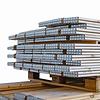 Nieuwe houten palletrand 1200x1000mm - uit 2 plankdelen