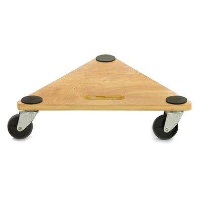 Houten dolly 430x430x117mm - driehoeksvorm