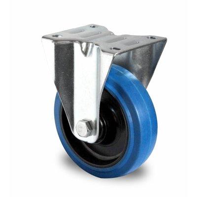 Bokwiel 125mm diameter met kogellager - PA/Rubber