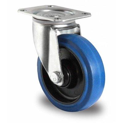 Zwenkwiel 125mm diameter met kogellager - PA/Rubber