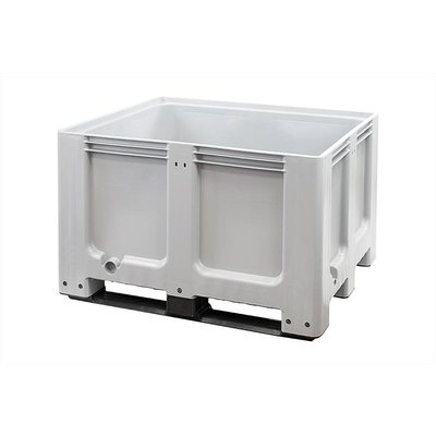 Gebruikte kunststof palletbox 1200x1000x760mm - 3 sledes, gesloten