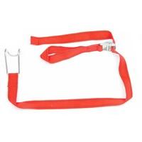 Rode textielbinder voor rolcontainers
