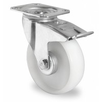 Zwenkwiel geremd 100mm diameter met rollager - PA