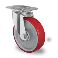 Zwenkwiel 125mm diameter met kogellager - PA / PU