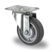 Zwenkwiel 100mm diameter met kogellager - PP /TPR